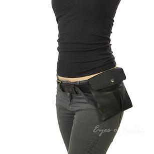 Leather Belt Bag Hip Pocket Waist Bum Bag Pouch