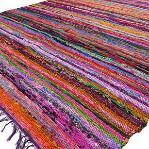 Purple Chindi Woven Rag Rug - 3.5 X 5.5'