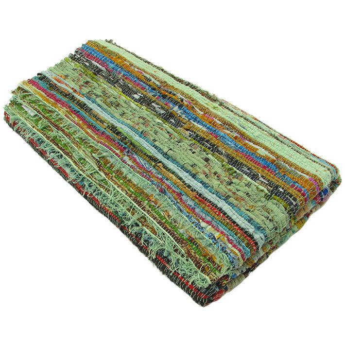 Rag Rug Prices: 5.5 X 3.3 Ft GREEN RAG RUG FLOOR MAT CARPET WOVEN HANDLOOM