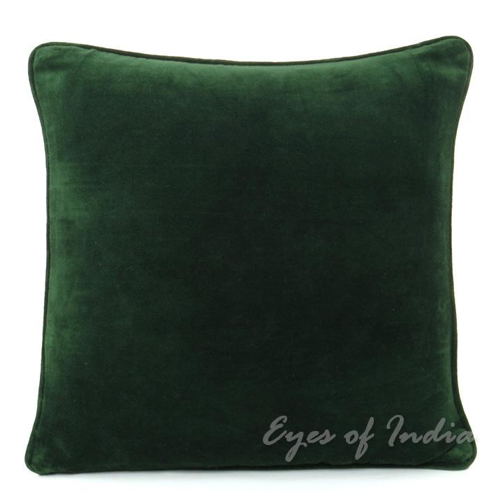 Cotton Velvet Decorative Pillows : 16 GREEN VELVET COTTON PILLOW CUSHION COVER THROW Colorful Decorative Sofa Toss eBay
