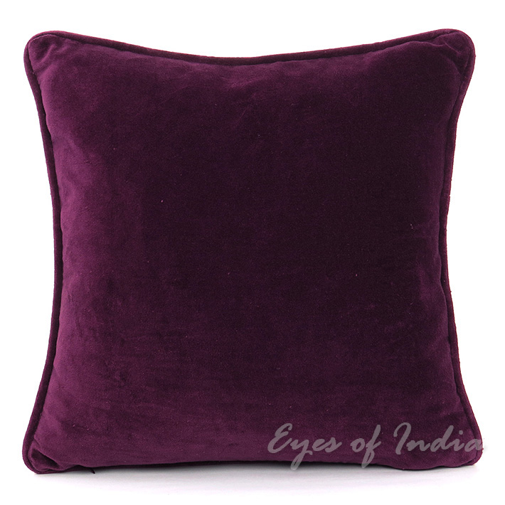 Purple Velvet Decorative Pillows : 20