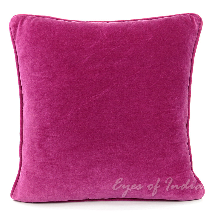 Purple Velvet Throw Pillows : 20 PURPLE VELVET COTTON PILLOW CUSHION COVER THROW Colorful Decorative Sofa Tos eBay