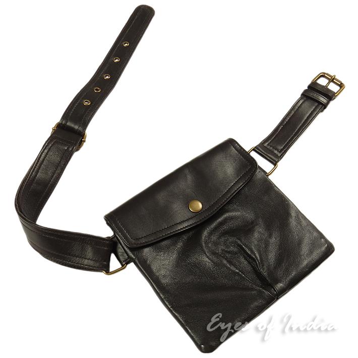 leather brown belt bag hip pouch pocket waist bum