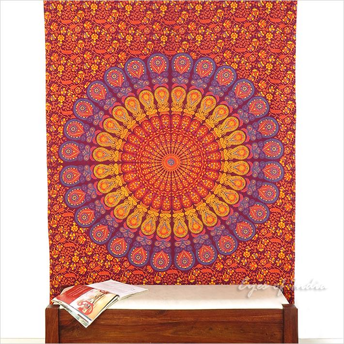 zweibettzimmer burgund hippie indische mandala wandbehang. Black Bedroom Furniture Sets. Home Design Ideas