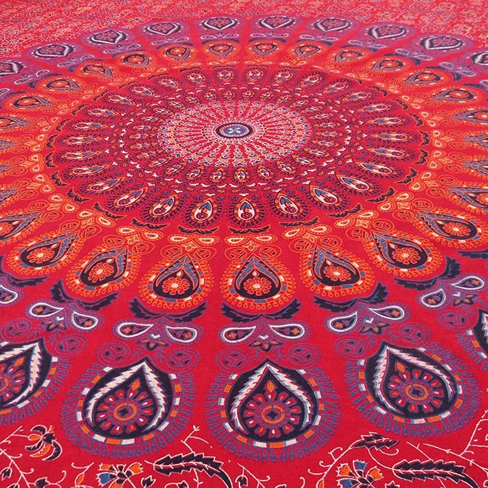twin rojo elefante indio mandala tapiz arte el bedsheet beach blanket decoracin del dormitorio