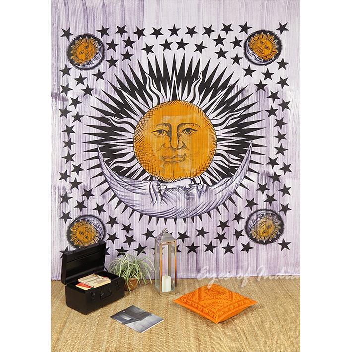 purple sun couvre tenture indienne tapisserie lancer d coratif ethnique. Black Bedroom Furniture Sets. Home Design Ideas