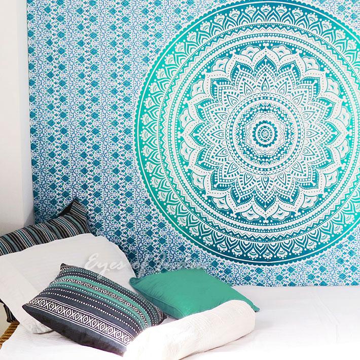 simple vert ombre tenture murale mandala couvre lit tapisserie drap de plage ebay. Black Bedroom Furniture Sets. Home Design Ideas