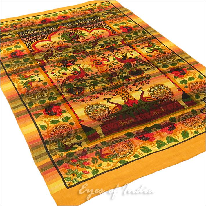 Simple jaune paon mandala arbre de vie tenture tapisserie murale d cor boh me ebay - Arbre de vie decoration murale ...