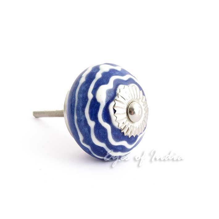 Blau indigo keramik dekorativ boho unkonventionell indian for Indische tur
