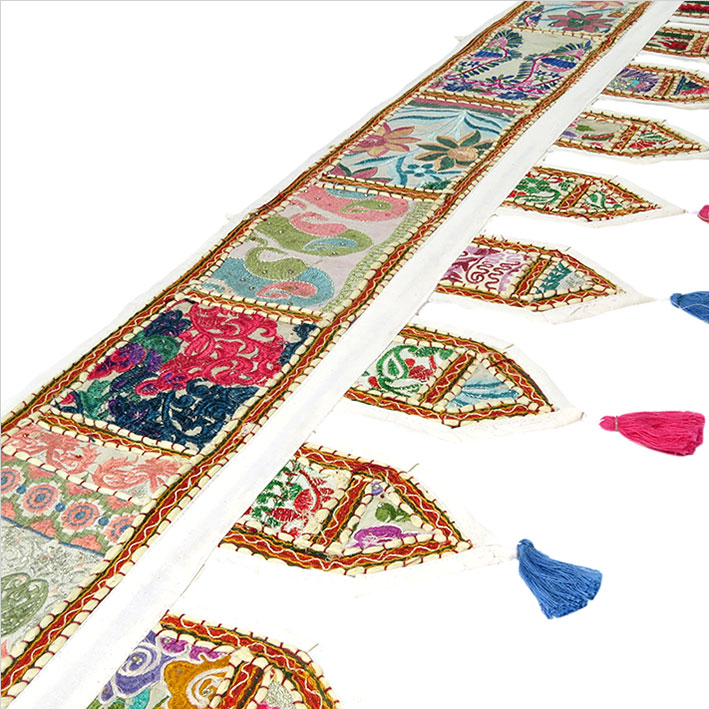 78 wei patchwork fenster t r volant toran wandbehang for Indische tur
