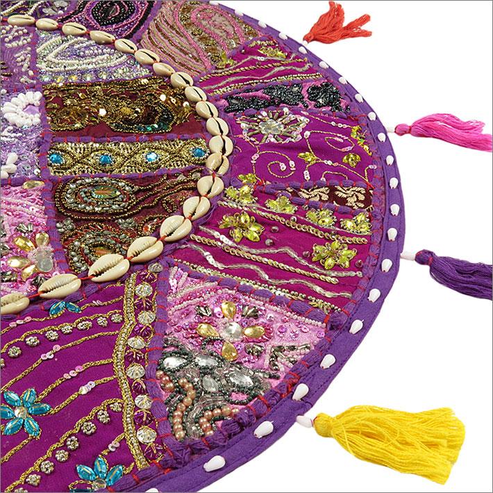 22 lila bodenkissen h lle patchwork sitz boho indische for Boho dekoration