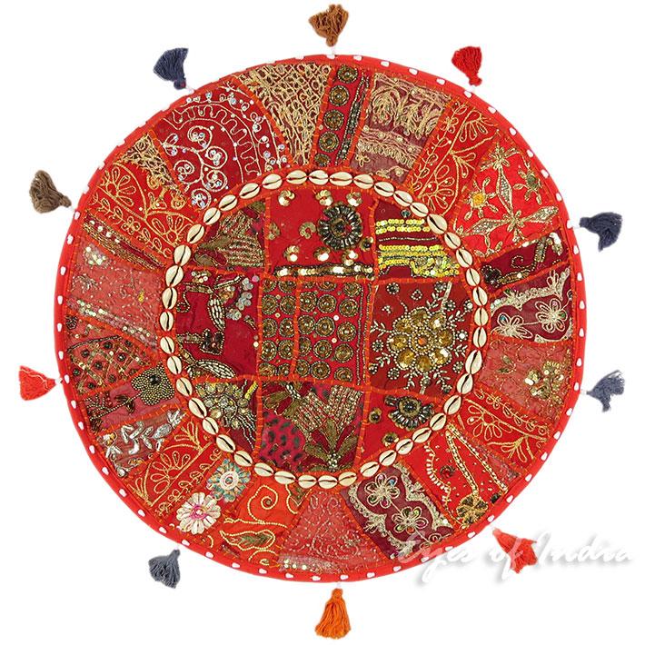 22 Rot Dekorativ Patchwork Boden Kissenbezug Sitz
