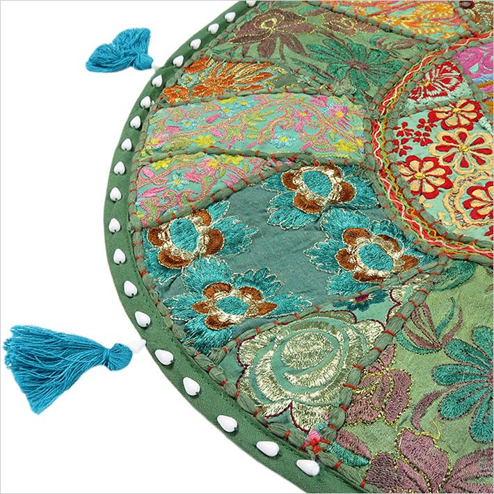 rund patchwork dekorativer boden sitzkissen kissenbezug boho dekor ebay. Black Bedroom Furniture Sets. Home Design Ideas