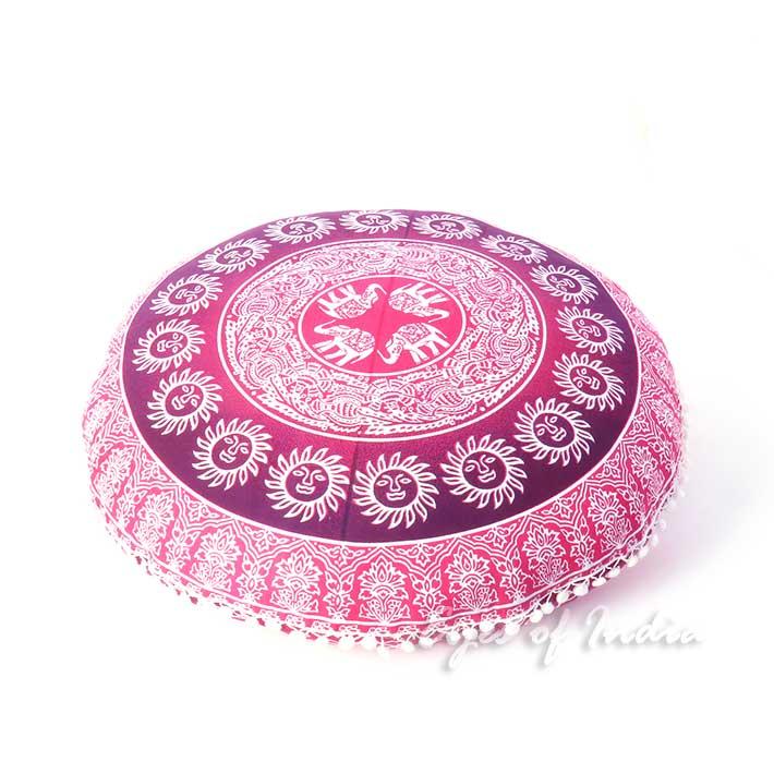32 rose bordeaux rouge coussin de sol couverture de si ges mandala jet de lit ebay. Black Bedroom Furniture Sets. Home Design Ideas