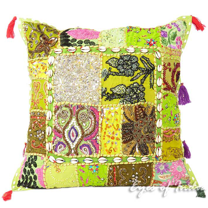 20 Quot Green Cushion Patchwork Sofa Pillow Throw Cover Couch