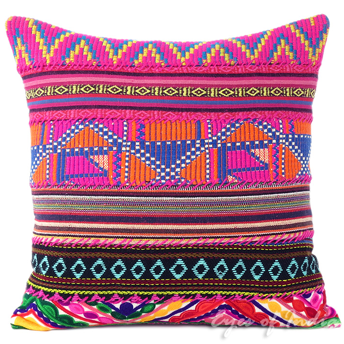 Pink Dhurrie Moroccan Decorative Sofa Pillow Cushion Cover