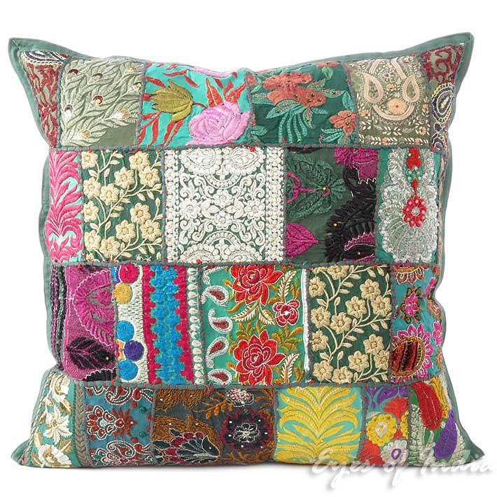 20 gr ne flickenteppich dekorative sofa kissenbezug for Indisches sofa
