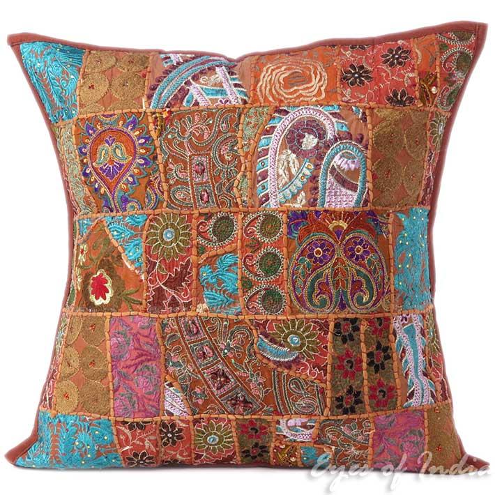 24 gro braun bunt dekoratives kissen berwurf kissen sofa bohemian boh ebay. Black Bedroom Furniture Sets. Home Design Ideas