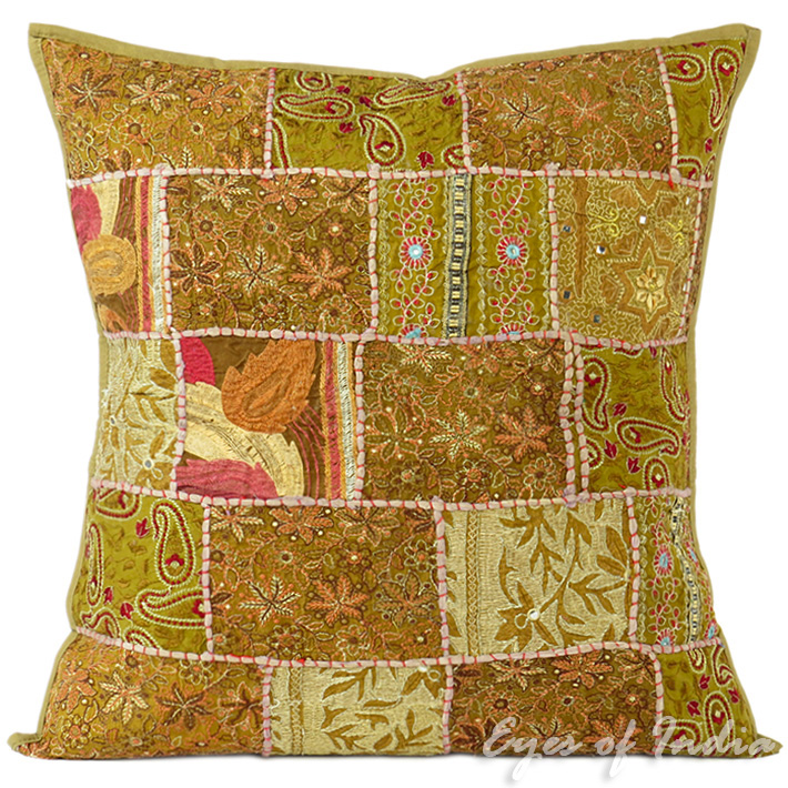 Brown Floral Throw Pillow : 24