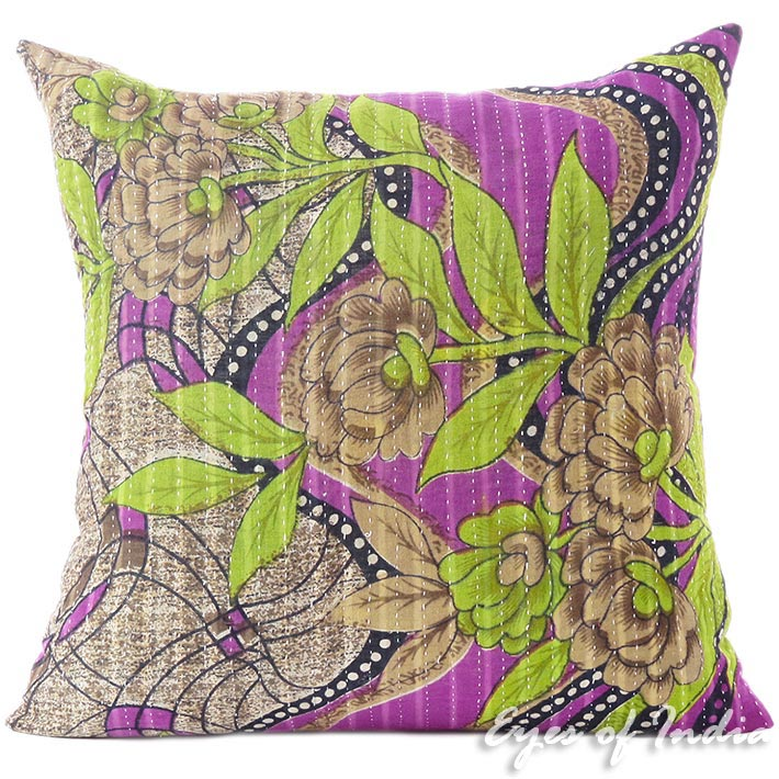 16 dekorativ bunt dekorativ indisch kantha sofa kissen for Sofa indisch
