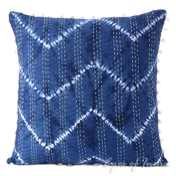 Indigo Blue Throw Pillow : 16