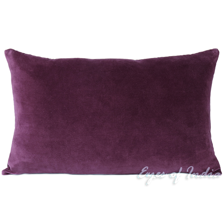 PURPLE VELVET DECORATIVE THROW SOFA PILLOW CUSHION COVER Boho Bohemian Decor