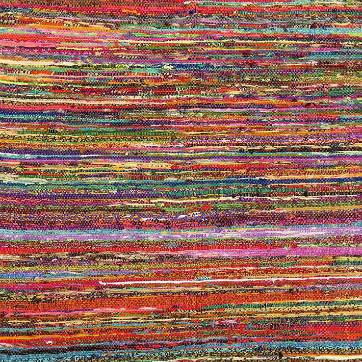 Rag Rug Prices: 5.5 X 3.5 Ft COLORFUL RAG RUG CHINDI FLOOR MAT CARPET