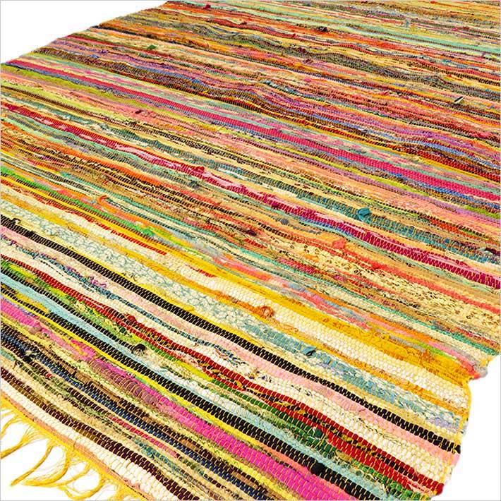 1 color jaune indien tiss tapis rag boho boh me d corative ebay. Black Bedroom Furniture Sets. Home Design Ideas