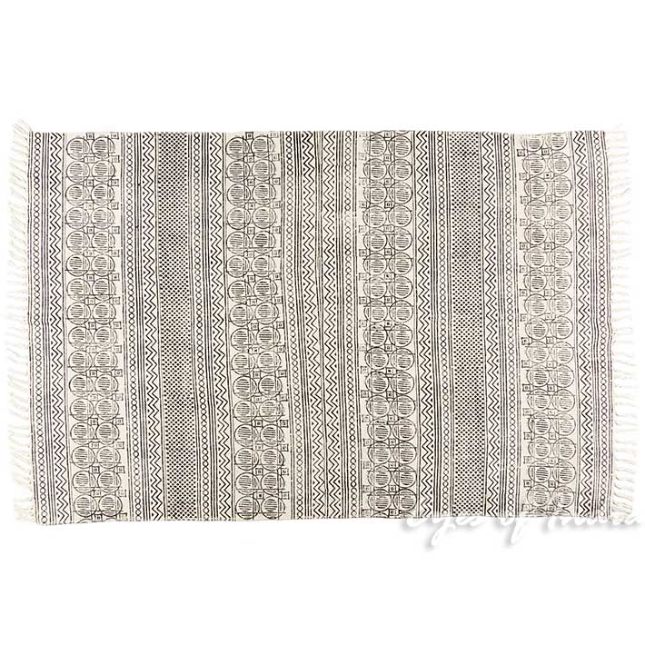 1,2m X 1,8m Schwarz Weiß Baumwolle Block Druckfläche