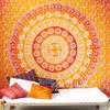 Elephant Ombre Mandala Tapestry Bedspread - Double/Queen
