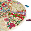"""White Round Decorative Floor Cushion Pillow Cover - 32"""""""