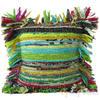 "Green Chindi Decorative Pillow Cushion Cover - 12 X 12"""