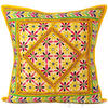 "24"" Large Yellow Decorative Throw Pillow Cushion Cover Indian Bohemian Decor"