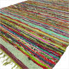 Green Colorful Chindi Woven Rag Rug - 3.5 X 5.5'