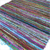 Light Blue Chindi Woven Rag Rug - 3.5 X 5.5'