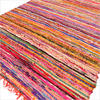 Orange Woven Chindi Rag Rug - 3.5 X 5.5'