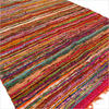 Orange Woven Chindi Rag Rug - 3.5 X 5.5'