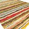 Yellow Woven Chindi Rag Rug - 3.5 X 5.5'