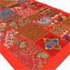 Red Decorative Patchwork Embroidered Tapestry Wall Hanging - 20 X 60""