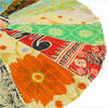 Colorful Kantha Round Floor Pillow Cushion Cover - 22""