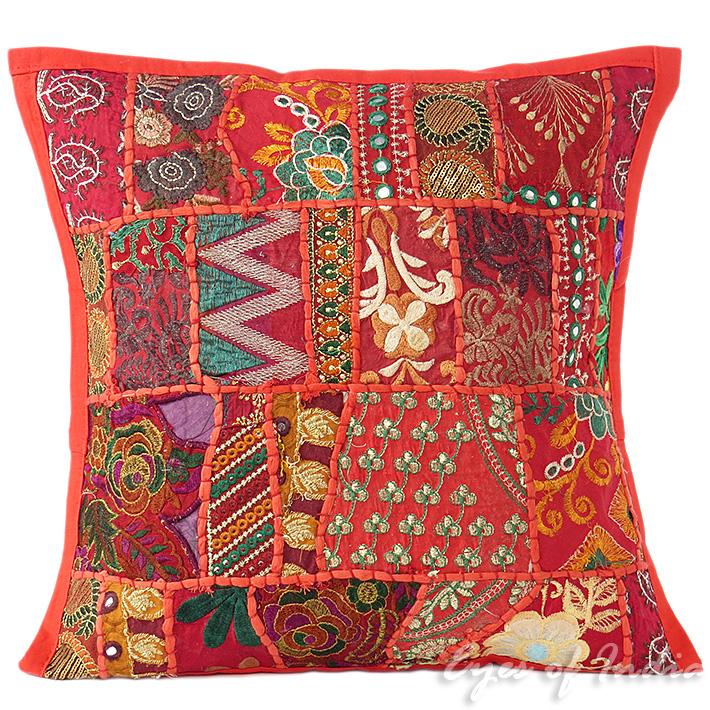 16 rot patchwork sofa kissenbezug sofa boho indische b hmisch for Indische sofas