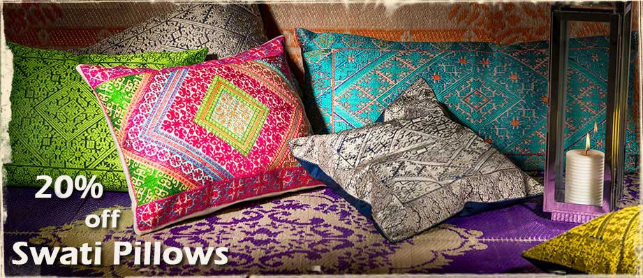 Swati Pillows Embroidered Cushions