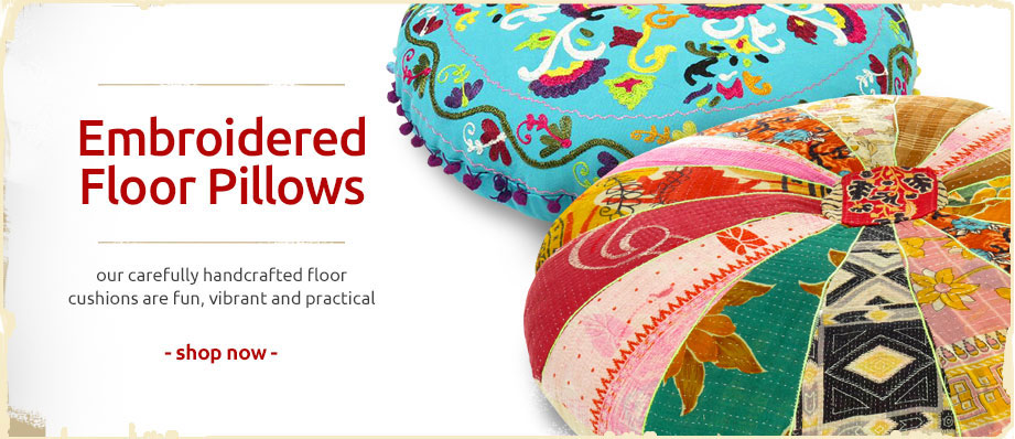 Embroidered Floor Pillows