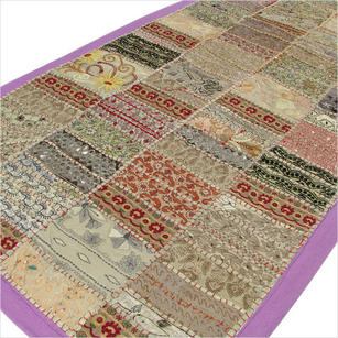 """Patchwork Decorative Wall Hanging Tapestry Runner - 20 X 60"""""""