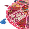 """Pink Round Decorative Floor Cushion Pillow Cover - 22"""""""