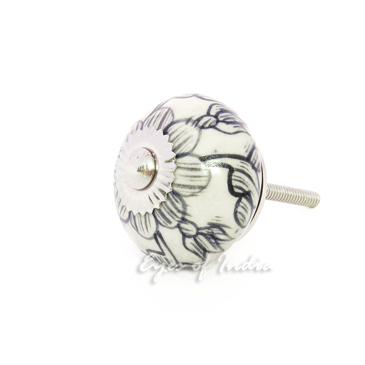 white decorative ceramic cabinet door dresser cupboard knobs handles