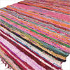 Burgundy Red Woven Chindi Rag Rug - 3.5 X 5.5'