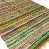 Green Colorful Chindi Woven Rag Rug - 3.5 X 5.5'