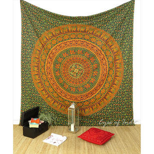 Mandala Boho Tapestry Hippie Wall Hanging Hippie Bedspread - Queen/Double