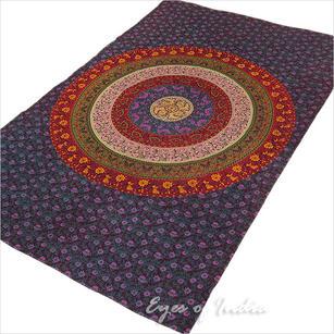 Elephant Mandala Tapestry Wall Hanging Bedspread - Twin/Single
